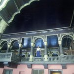 first floor with well painted (indigo) ceiling)