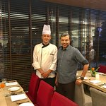 With Sous Chef Sulabh Joshi