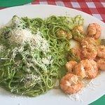Espaguete ao Pesto com Lagostins