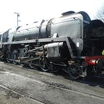 A member of the 9F Class No 92212 at Ropley.