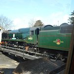 """SR Battle Of Britain Class No 34053 4-6-2 """"Sir Keith Park"""" at Swanage."""