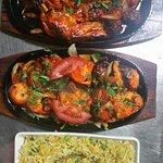tandoori chicken with veg fried rice