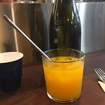 Fresh pressed OJ with sustainable straw