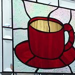 red cup stain glass