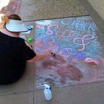 "The 1818 Arthouse regularly hosts family-friendly activities, such as this free ""Chalk the Block"