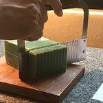 Kiwi soap freshly cut on room arrival.