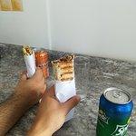 Shawarma y Msajan ....muuuuuuuy buenos!!