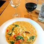 Seafood risotto. Clams, prawns, mussels, snapper, prawn cream- YUM