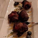 Blue Cheese stuffed & Bacon Wrapped Dates