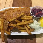 Fish & Chips at Custom Grill in the Mall at the Market Restaurants