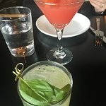 Blood orange cosmo and Italian margarita