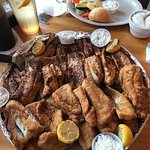 Our fresh catch---done 2 ways --fried and blackened. Delicious!!
