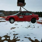 Swinging a car through the air. Would be great to help with parking.