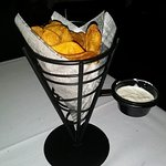 Complimentary Chips and handy attached Dip- Yummy!
