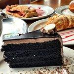 Desserts Triple Chocolate Cake, Apple Strudel, Strawberry Strudel