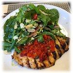 Chicken Paillard with salad.