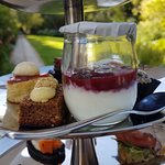 Low carb high tea! Stunning setting 👌