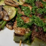 Pinchos Heaven … tenderloin, chicken, shrimp with chimichurri