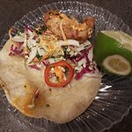 Red Cow tempura battered cod taco