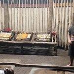 Hangi food. Cooked underground