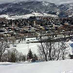 Steamboat Springs at viewed from top of Howelsen Hill