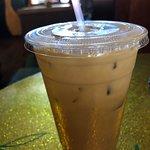Iced Coffee with Banana Torani and Cream