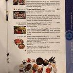 A menu page