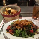 Beef salad - gluten free - except for that bowl of bread which came with my friend's meal.