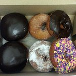 a variety of donuts