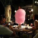 Huge cotton candy for dessert...
