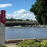View to Brisbane River with Quick Cat