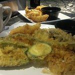 Tempura and gyoza appetizers