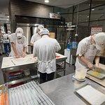 Busy making dumplings