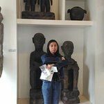 lifesized Ifugao wood carvings