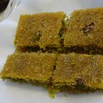 tel kadayif with pistachio