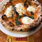 Mozzarella & basil pizza