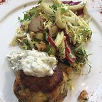 Fish Cakes and Fennel Salad