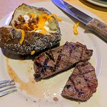 """My sirloin and """"loaded"""" baked potato."""