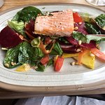 Excellent salad with salmon