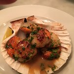 Scallops appetizer ...just okay (little under-cooked)
