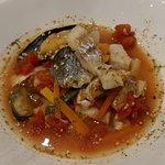 Cazuela de pescados y mejillones