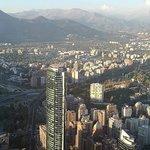 Amazing view of Santiago