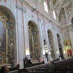 Inside the church on the left