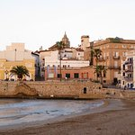 Sitges Beach - early morning in April