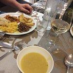 una deliziosa zuppa di patate e zucca per iniziare