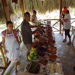 Mayan village, lunch
