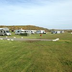 View of camping pitches.