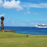 Ahu Ko Te Riku, the moai with eyes