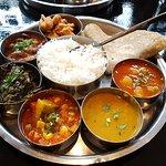 Vegan version of the Mysore Thali