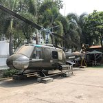The UH1 Huey helicopter on display at the War Museum